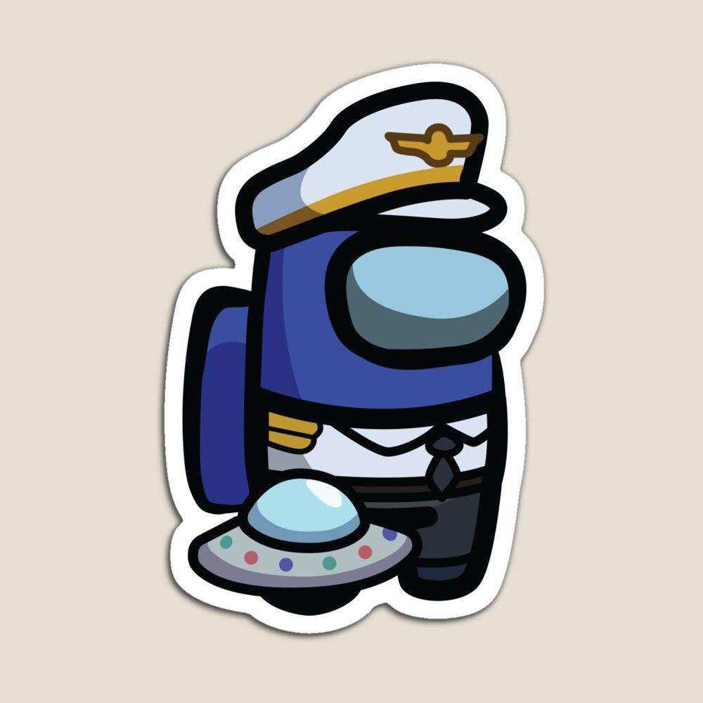 Among Us Captain Blue Magnet