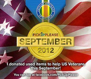 Veterans Donation Medal September 2012 Veterans Donations Veteran Veterans Of America