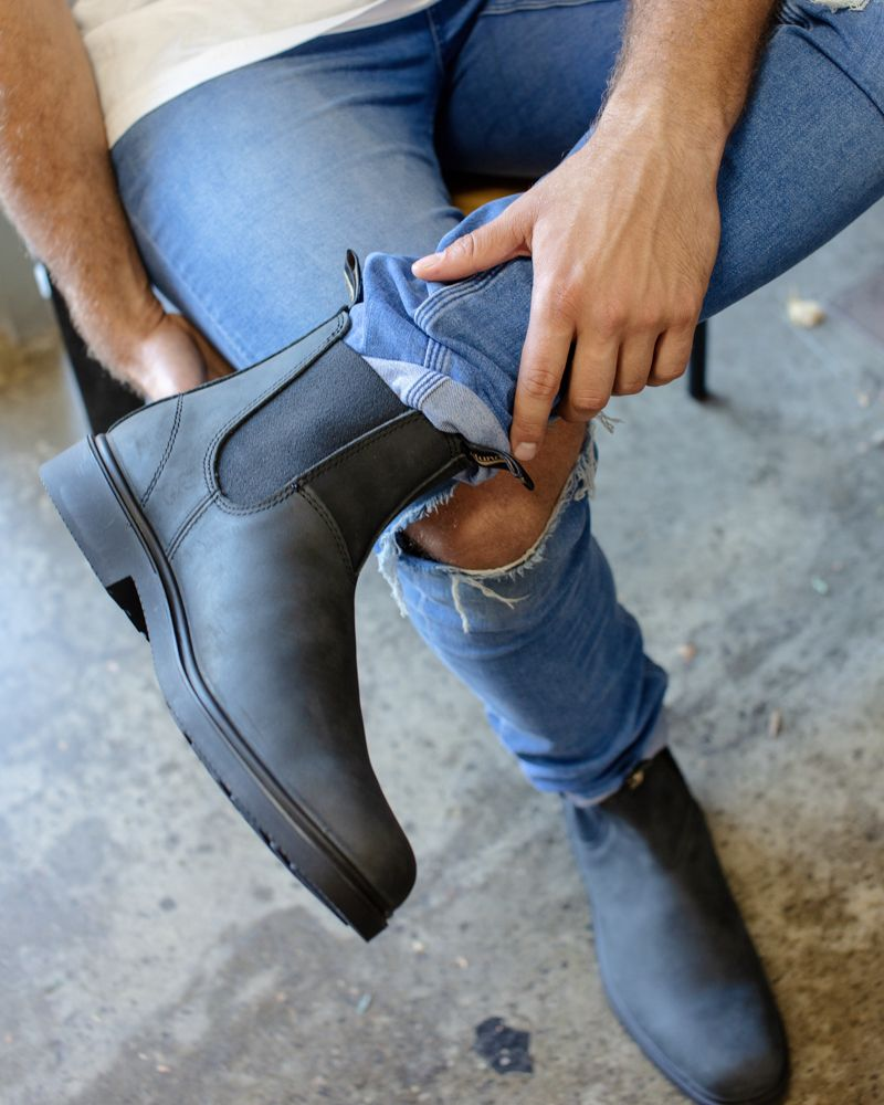 Blundstone 1308 Boot Rustic Black Blundstone Boots Urban Style Boots Blundstone