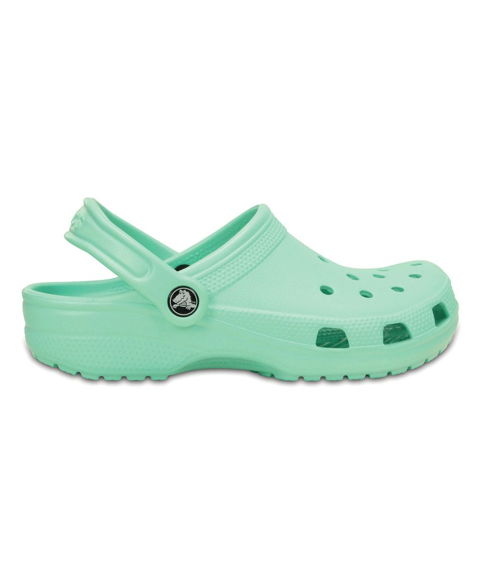 d88b60cec023 Look at this  zulilyfind! New Mint Classic Clog - Unisex by Crocs   zulilyfinds