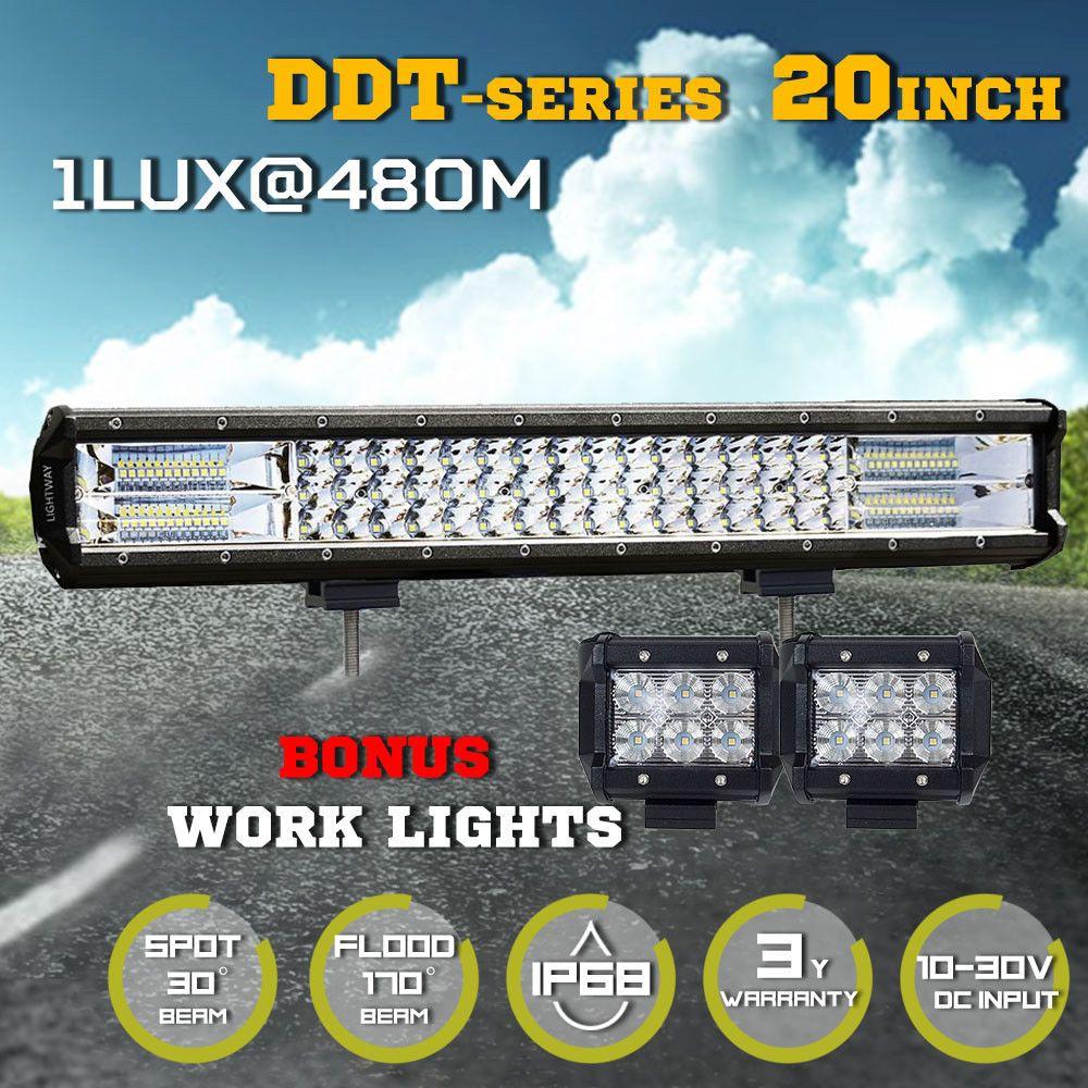 20inch Cree Led Light Bar Combo Work Driving Light W Wiring Loom Kit Offroad Ebay Led Light Bars Bar Lighting Led Lights
