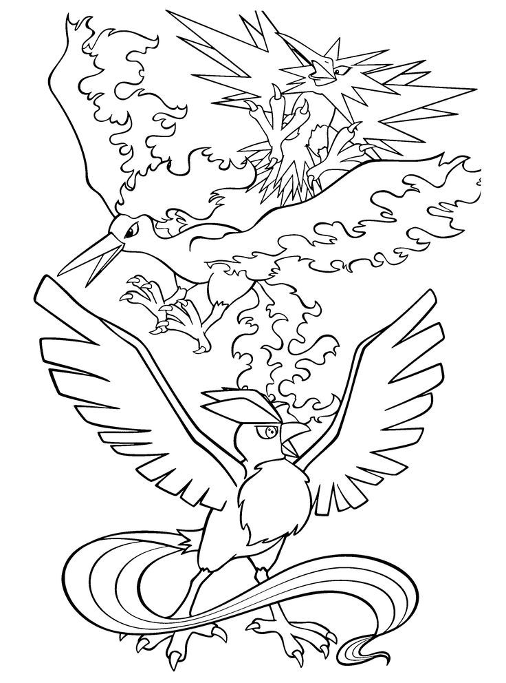 Printable Pokemon Coloring Pages Legendaries 10 (736×