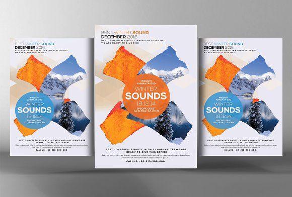 Minimal Winter Flyer Poster @creativework247 Templates - Templates