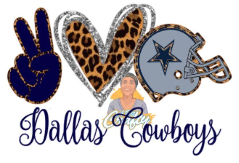 Download Peace, Love, Dallas Cowboys png/svg/jpeg/football/digital ...