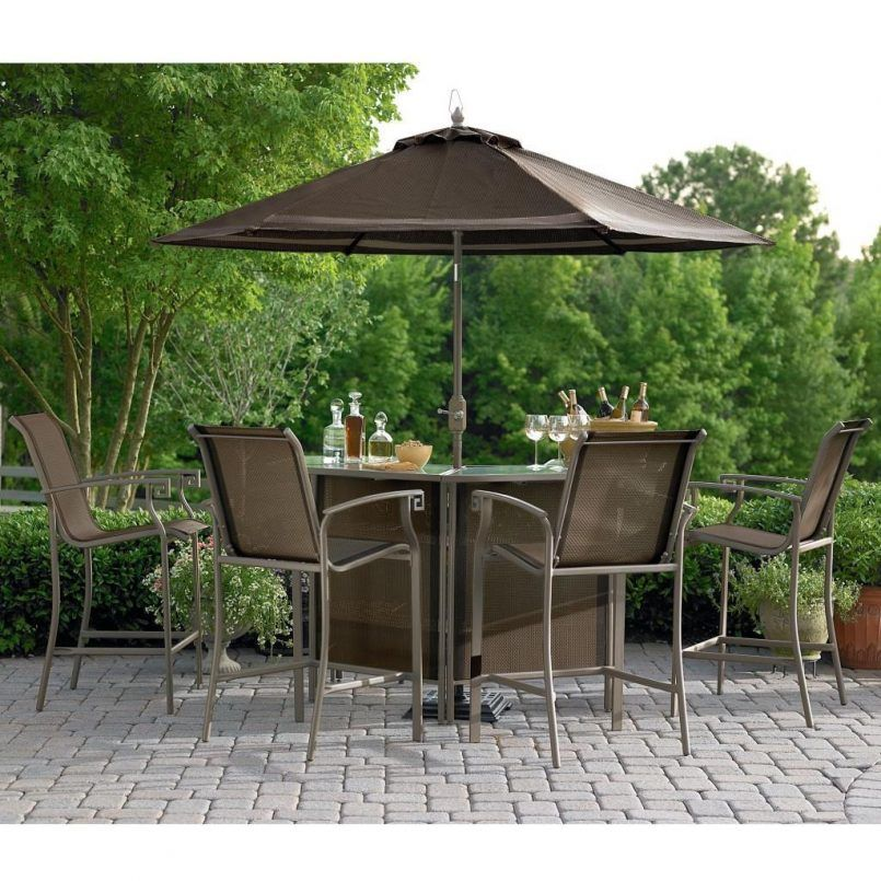 Outdoor Dark Grey Classic Stained Steel Bistro Set With Glass Also Bir And  Patio Umbrella Besides