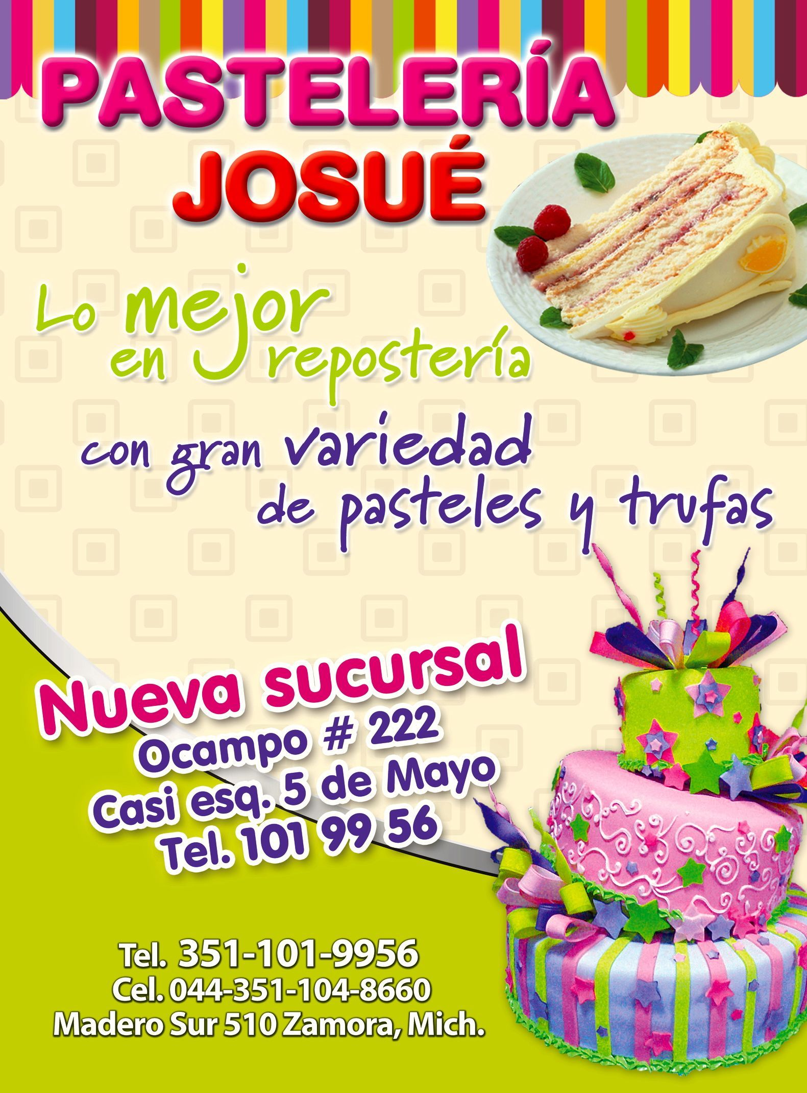 Pasteleria Josue Ya Una Tradici N De Zamora Al Mundo Mesas De  # Nuova Muebles Zamora