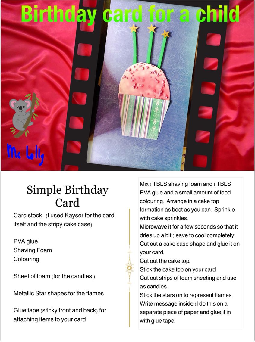 Simple Birthday Card for a child