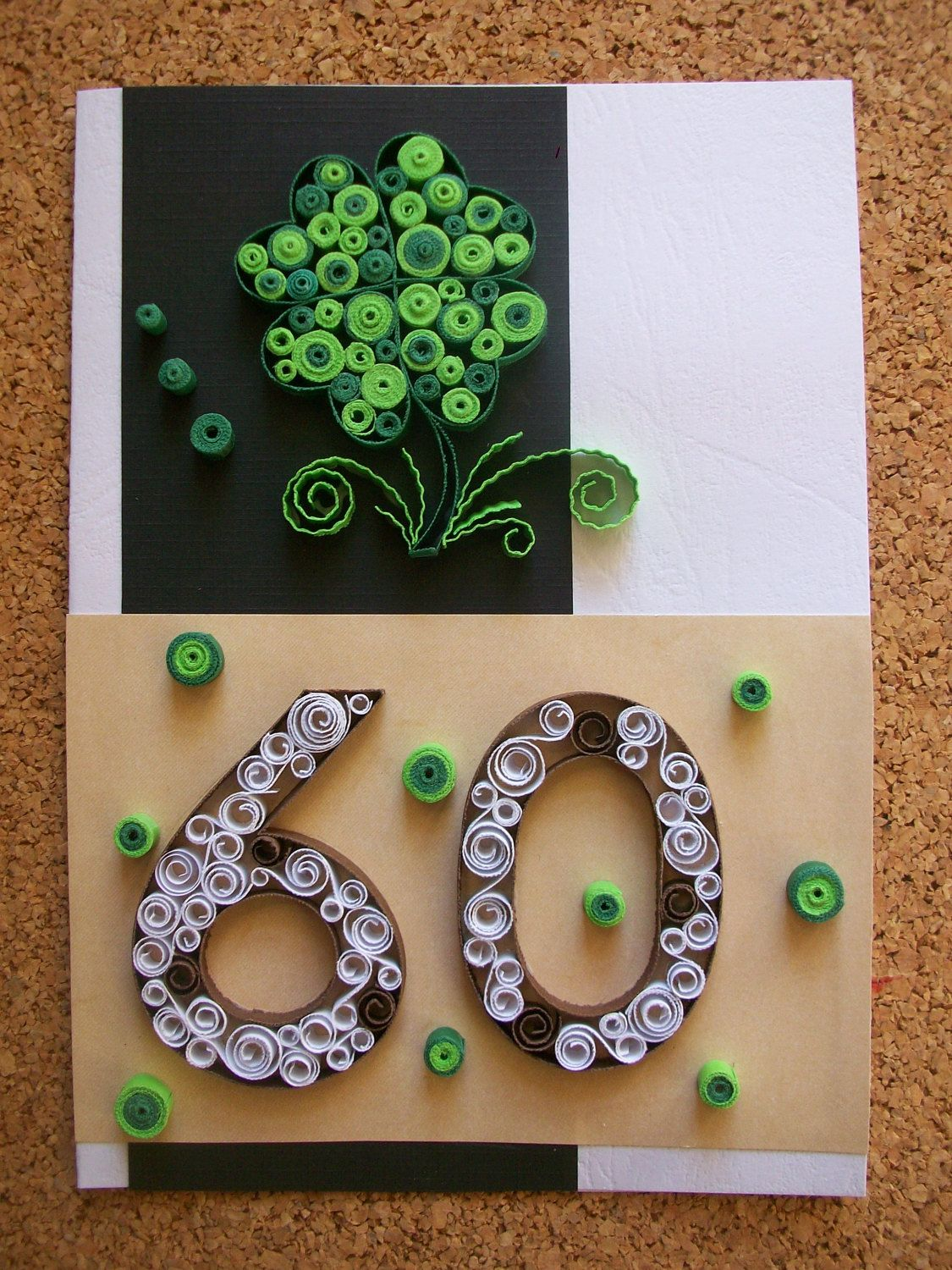 Birthday 60thAnniversary Quilling CardBirthday Card For Him Greeting CardQuilled Personalized 50th De HandmadeTedy En Etsy