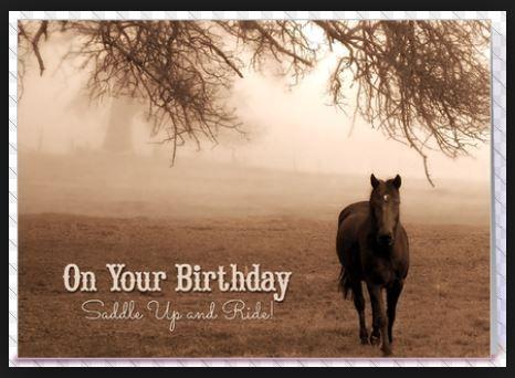 Lovely Brown And White Sepia Vintage Style Birthday Card Ddo Https Www Pinterest Com Dianadeeosborne Happy B Happy Birthday Horse Horses Happy Birthday