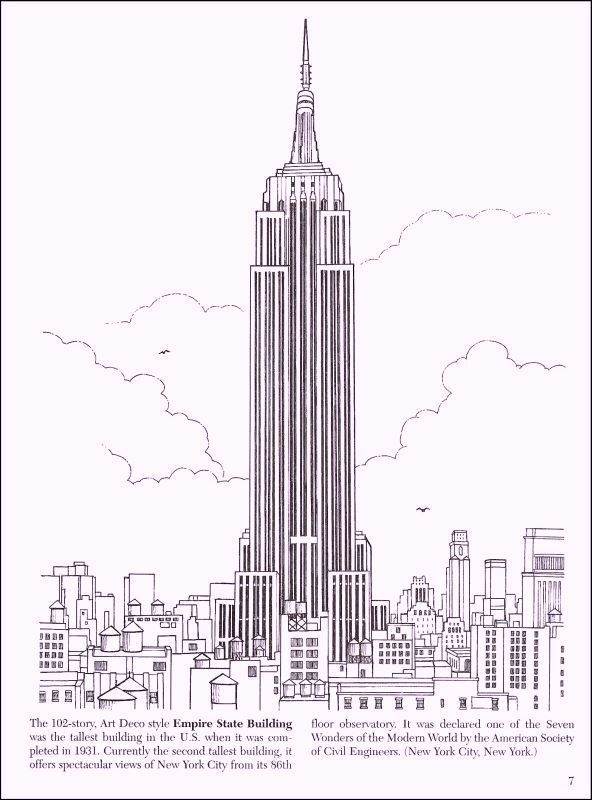 empire state building coloring pages - photo#15