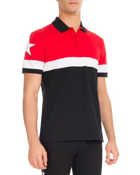 0348895f6a09f GIVENCHY Cuban-Fit Colorblock Polo Shirt