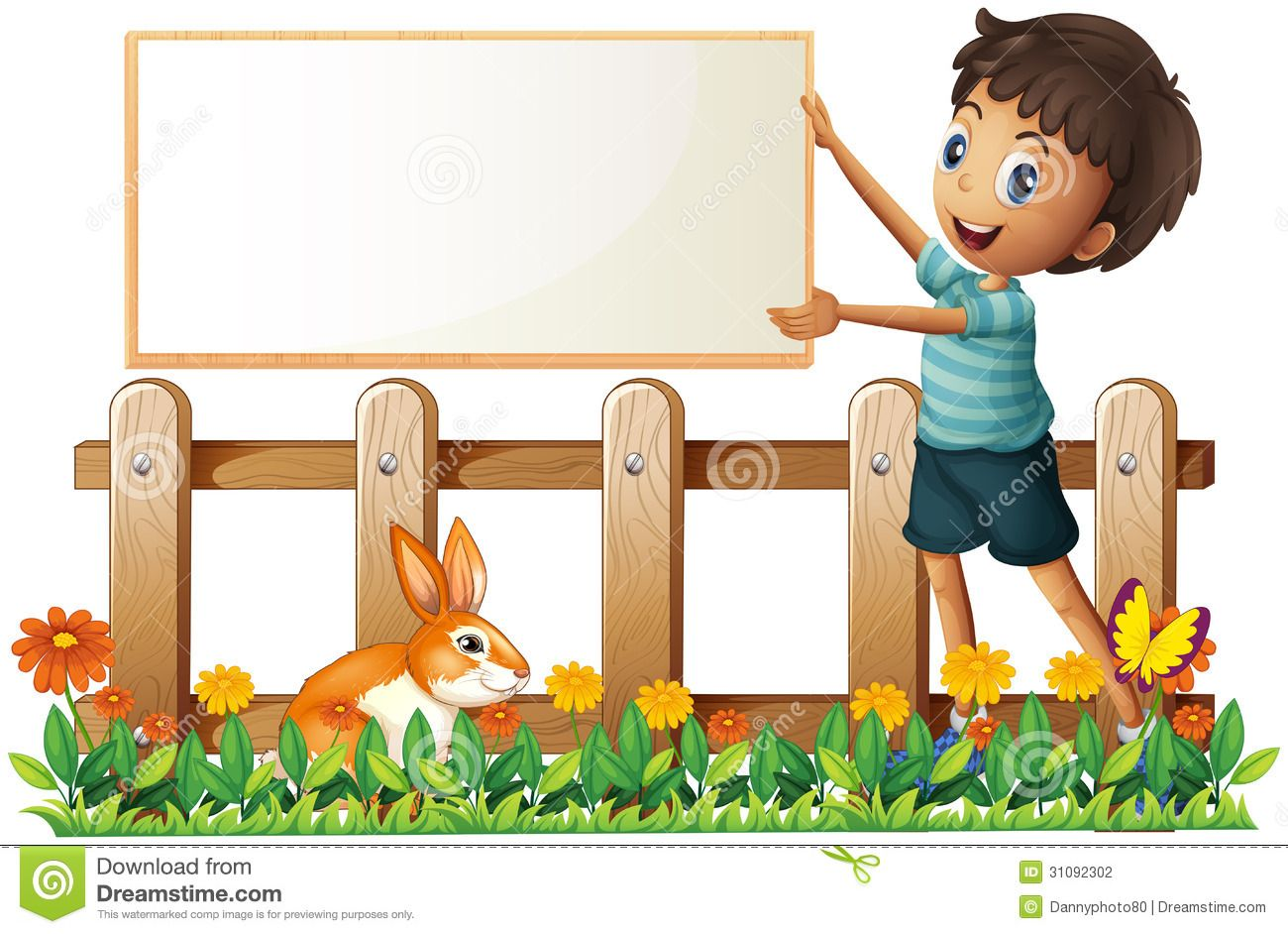 clip art pictures of kid fence in the garden - Google ...
