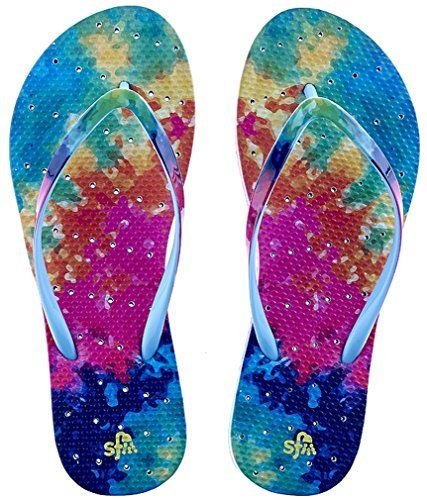 6ad9166af Showaflops Womens Antimicrobial Shower Water Sandals Bright Tie Dye 78      Want to know more