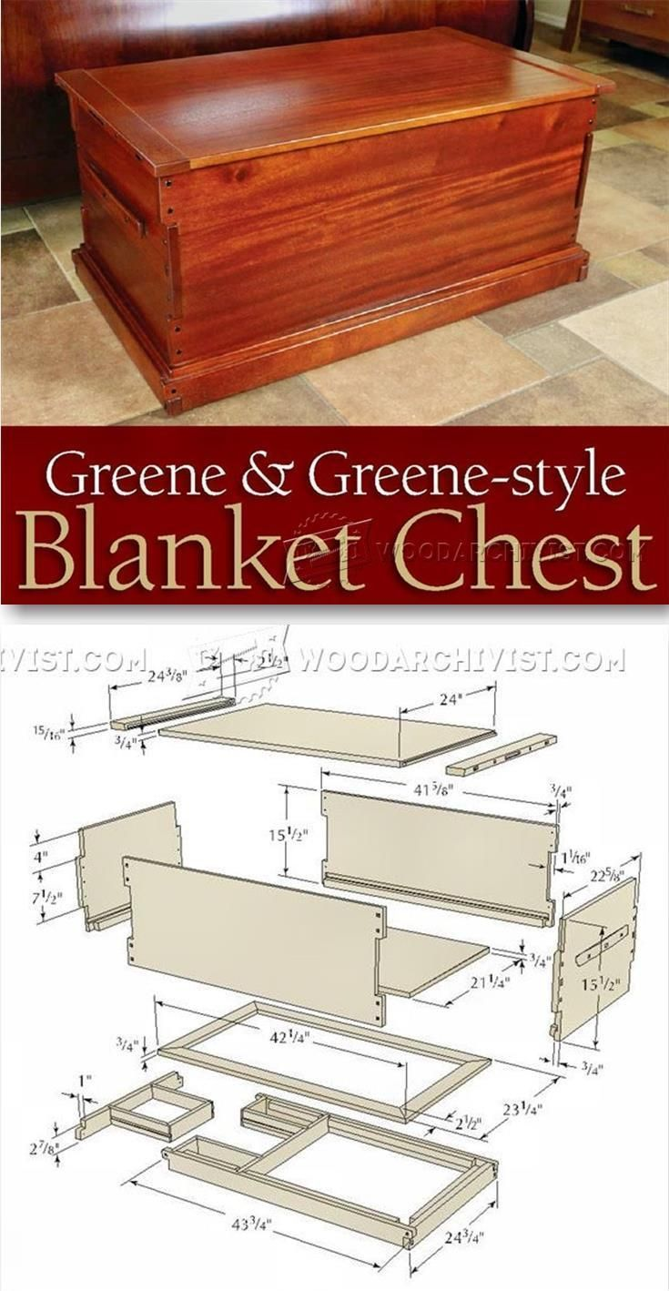 Blanket Chest Plan - Furniture Plans and Projects | WoodArchivist ...