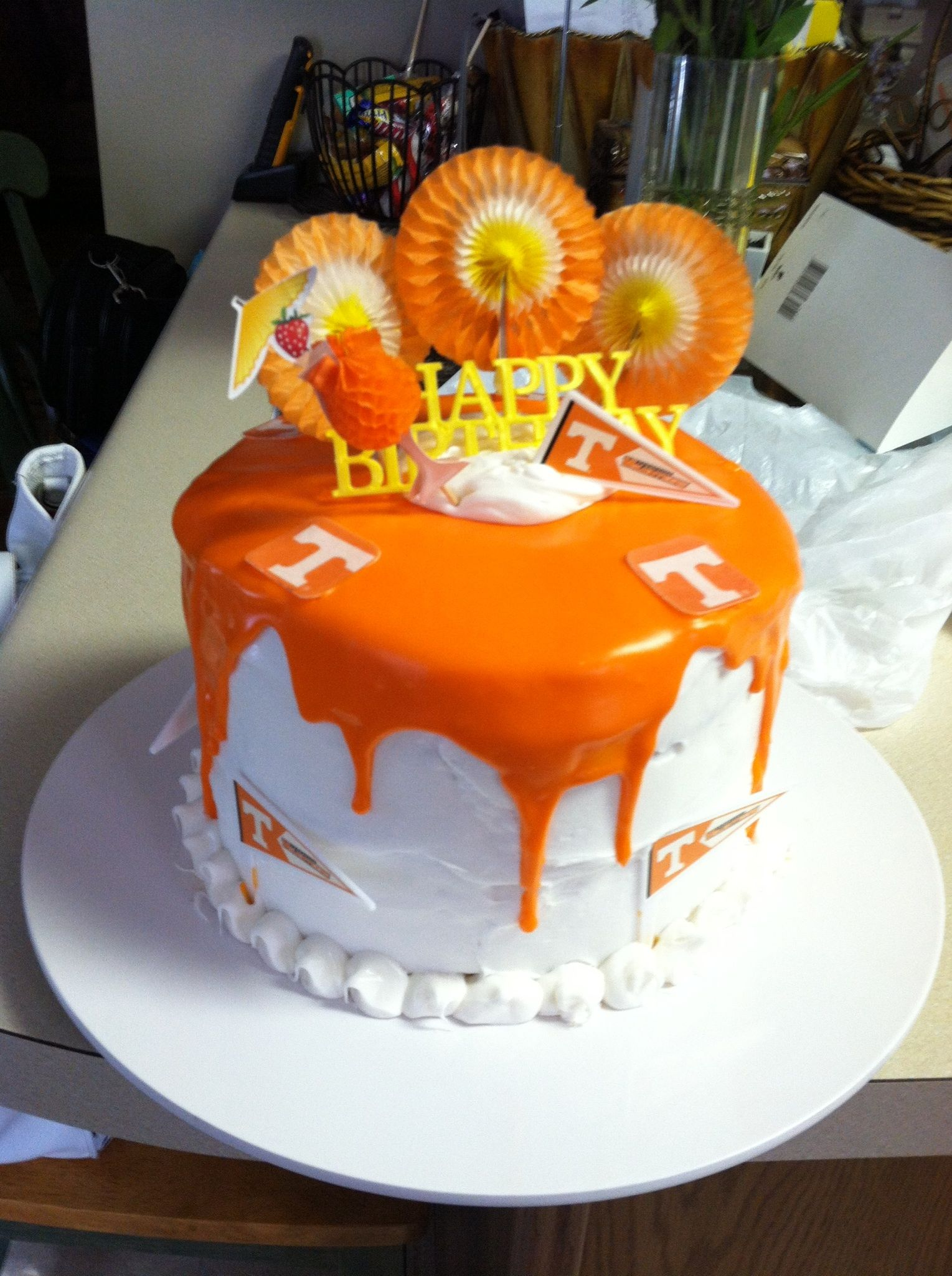 Big Orange Birthday Cake Go Vols Crafts I have madeor want to