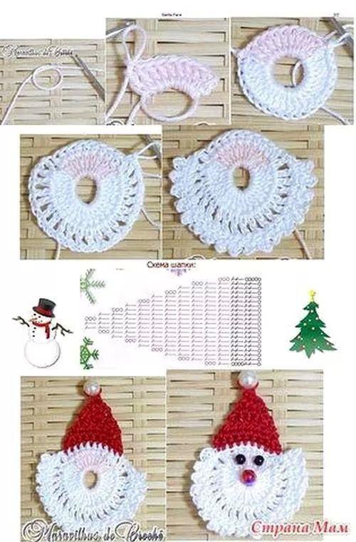 Babbi natale   Crochet   Pinterest   Navidad, Guirnaldas de búho y ...