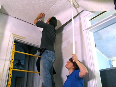 How To Hang Wallpaper On A Ceiling How To Hang Wallpaper Wallpaper Shelves Wallpaper Ceiling