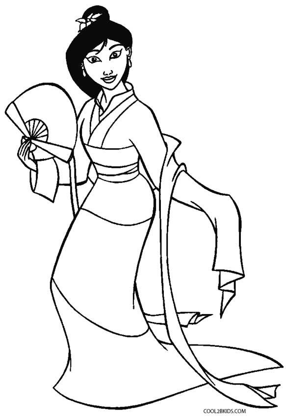 Mulan Coloring Pages | z Blank Pattern ~ Mulan Disney ...