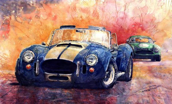 Ac Cobra Shelby 427 By Yuriy Shevchuk Ac Cobra Shelby Cobra Car Art