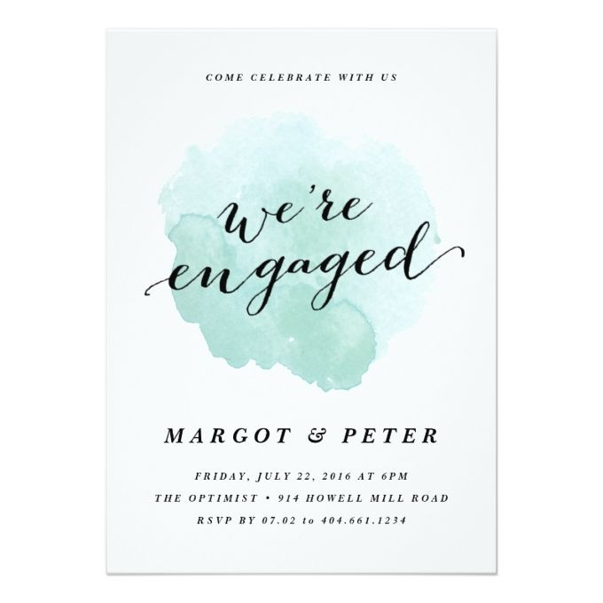 Watercolor spotlight Engagement Party Invitation Engagement - engagement party invites templates