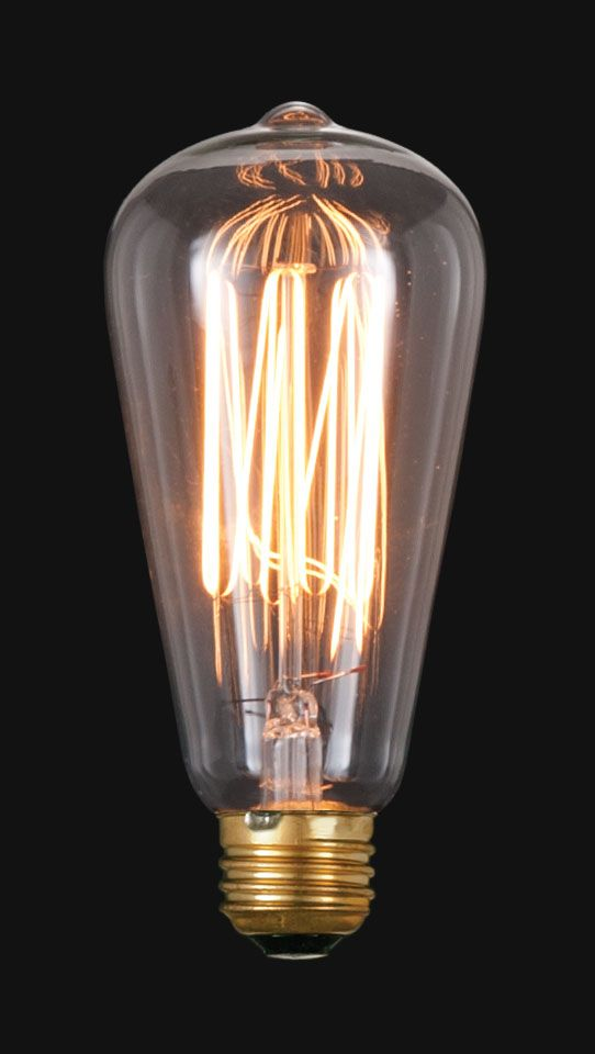 Edison base squirrel cage light bulb antique lamp supply for the bathroom