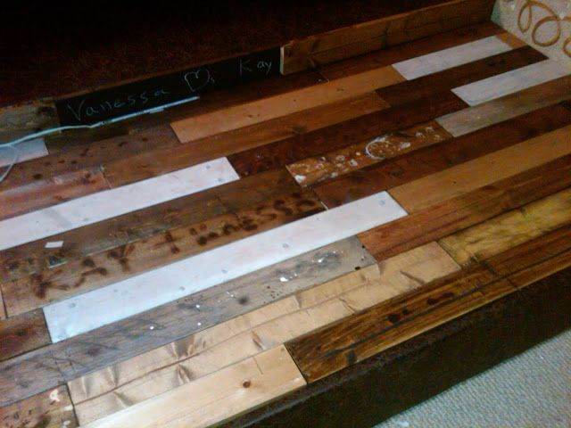 IKEA Hackers: Wood Floors Using Sultan Lade Slatted Bed Base For The Coffee  Table