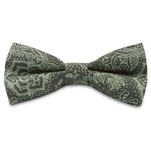 Bernie Silk Boho Pre Tied Bow Tie In Stock Bohemian Revolt Boho Green Bow Tie Pre Tied Bow Tie