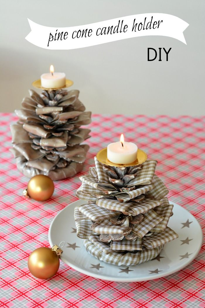 rustic pine cone candle holders diy christmas decor christmas candle decorations diy - Christmas Candle Holders Decorations