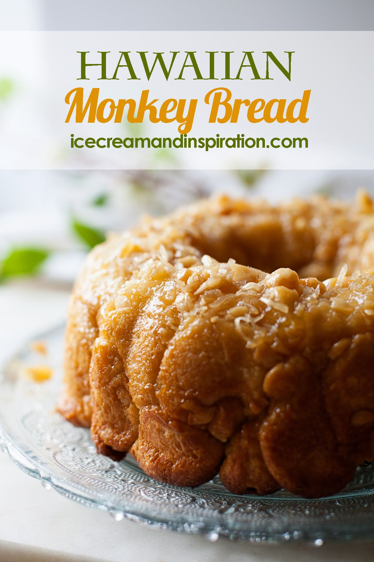 Make this Hawaiian Monkey Bread full of pineapple coconut and macadamia nuts for a