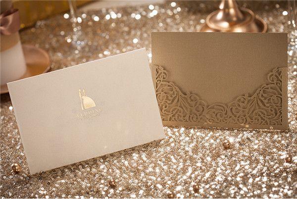 Goldene Hochzeit Dankeskarten Einsteckkarten Romantisch Einladungen  Elegante Einladungskarten Hochzeit 2014 / 2015 Bei Optimalkarten.de