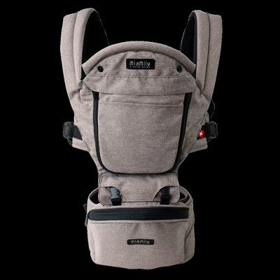 b01ec8712ea MiaMily Hipster Plus 3D Baby Carrier - Stone Gray