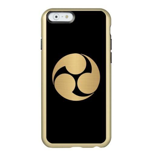 Kobayakawa Mon brushed gold on black Incipio Feather® Shine iPhone 6 Case