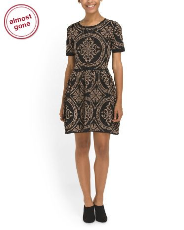 90337dcea729 Juniors Fit And Flare Sweater Dress - Dresses - T.J.Maxx | dresses ...
