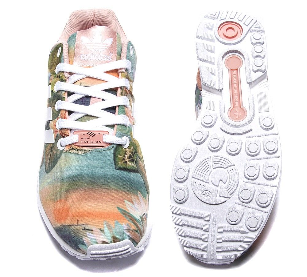 super popular 3ae43 abf3f Adidas Originals Womens ZX Flux Farm Trainer | Dust Pink ...