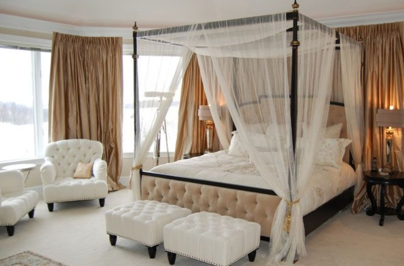 40 Stunning Bedrooms Flaunting Decorative Canopy Beds - http://freshome.com/