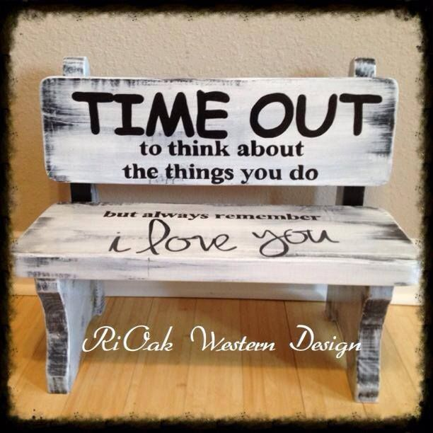 Timeout Bench Rustic Signs Rioak Sells Pinterest Bench Recliner And Babies
