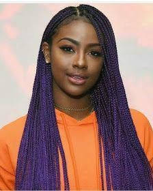 Image result for ombre lilac box braids # Braids africanas purple # Braids africanas twist