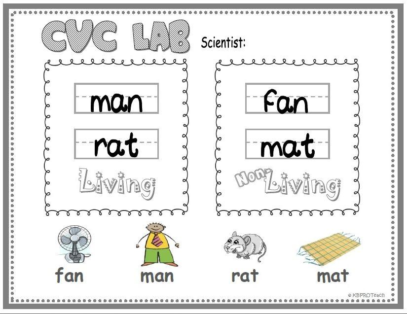 FREE Living & Non-Living Objects; CVC Short