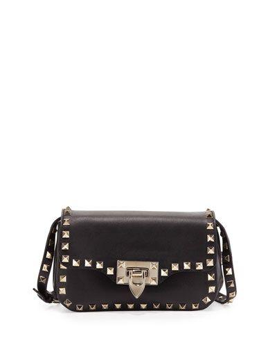 3a3f3277191b V1U4G Valentino Rockstud Mini Crossbody Bag, Black | Handbags ...