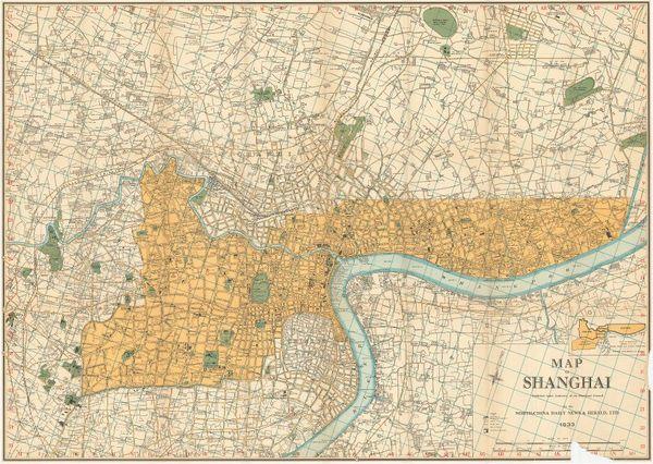 Shanghai 1933 Shanghai Map Antique Maps Shanghai