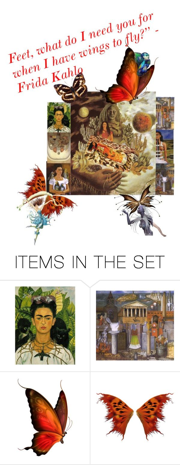 """""""FRIDA KAHLO: Making ART out of PAIN"""" by anastasia-pellerin ❤ liked on Polyvore featuring art and contest"""