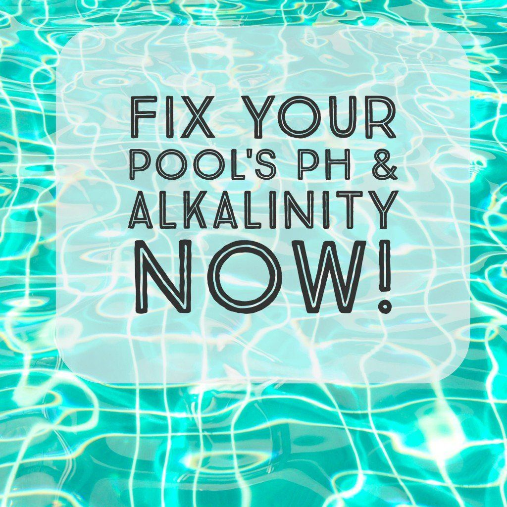 How to lower total alkalinity and adjust ph in a swimming