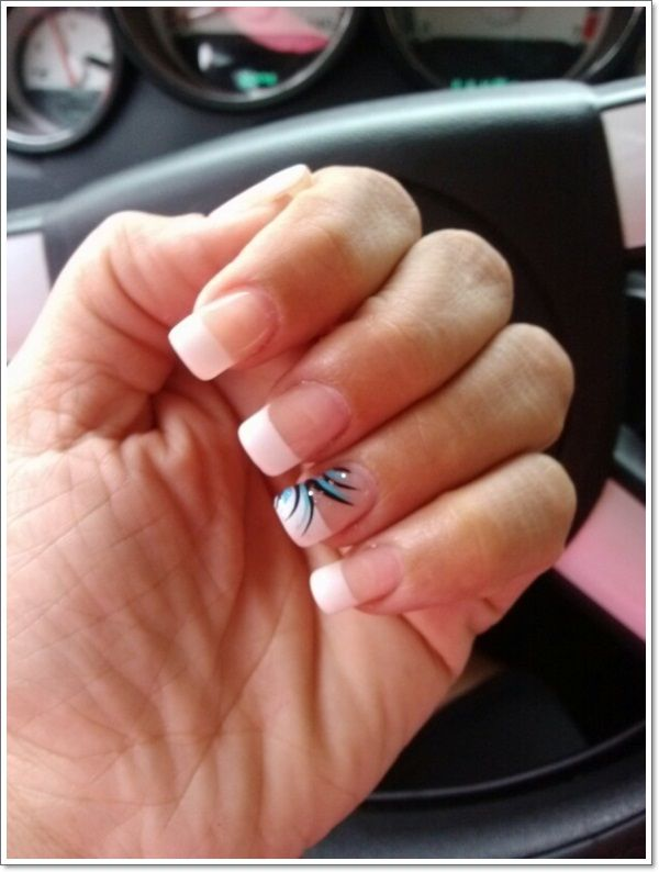 22 Awesome French Tip Nail Designs French Manicure Nails French Tip Nails Manicure Nail Designs