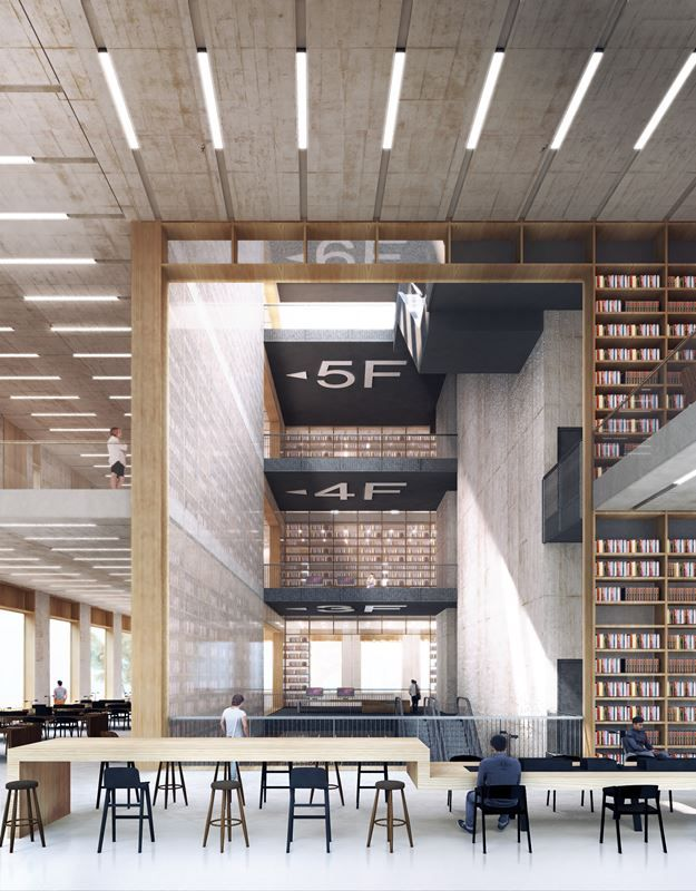 Longhua Art Museum And Library - Picture gallery #architecture # interiordesign #museum #library