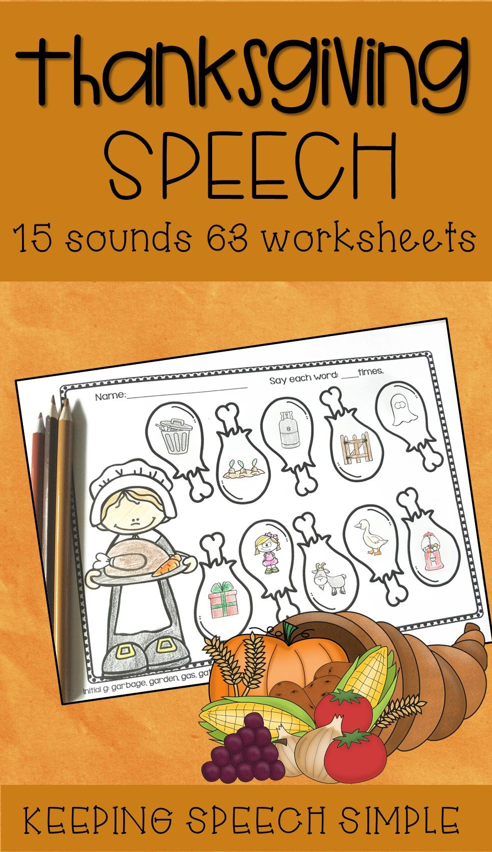 Just Print And Go To Use These No Prep Thanksgiving Themed Worksheets All Worksheets Are P Speech Therapy Thanksgiving Preschool Speech Therapy Speech Therapy [ 1701 x 983 Pixel ]