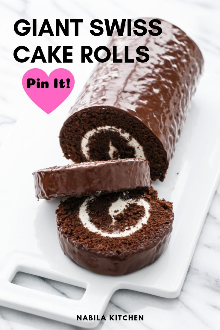 Soft Giant Swiss Cake Rolls