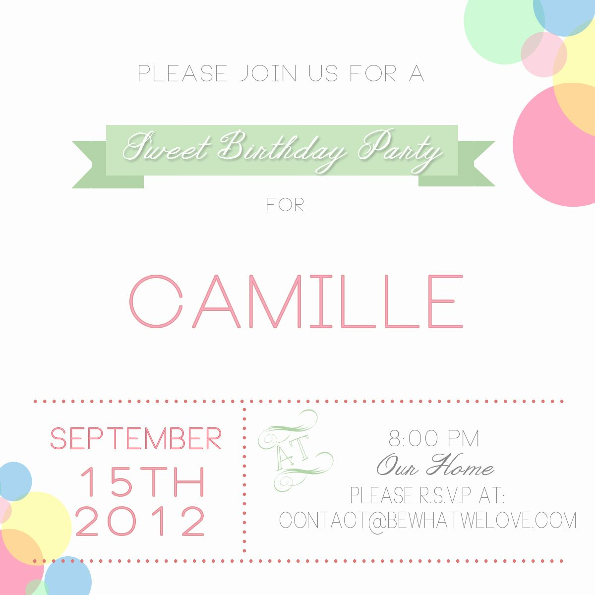 free party invitation templates to email