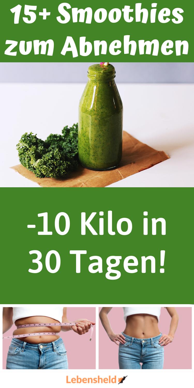 15 grüne Smoothies zum Abnehmen