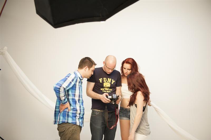 Mit Pauline und Claudi im Studio: behind the scenes