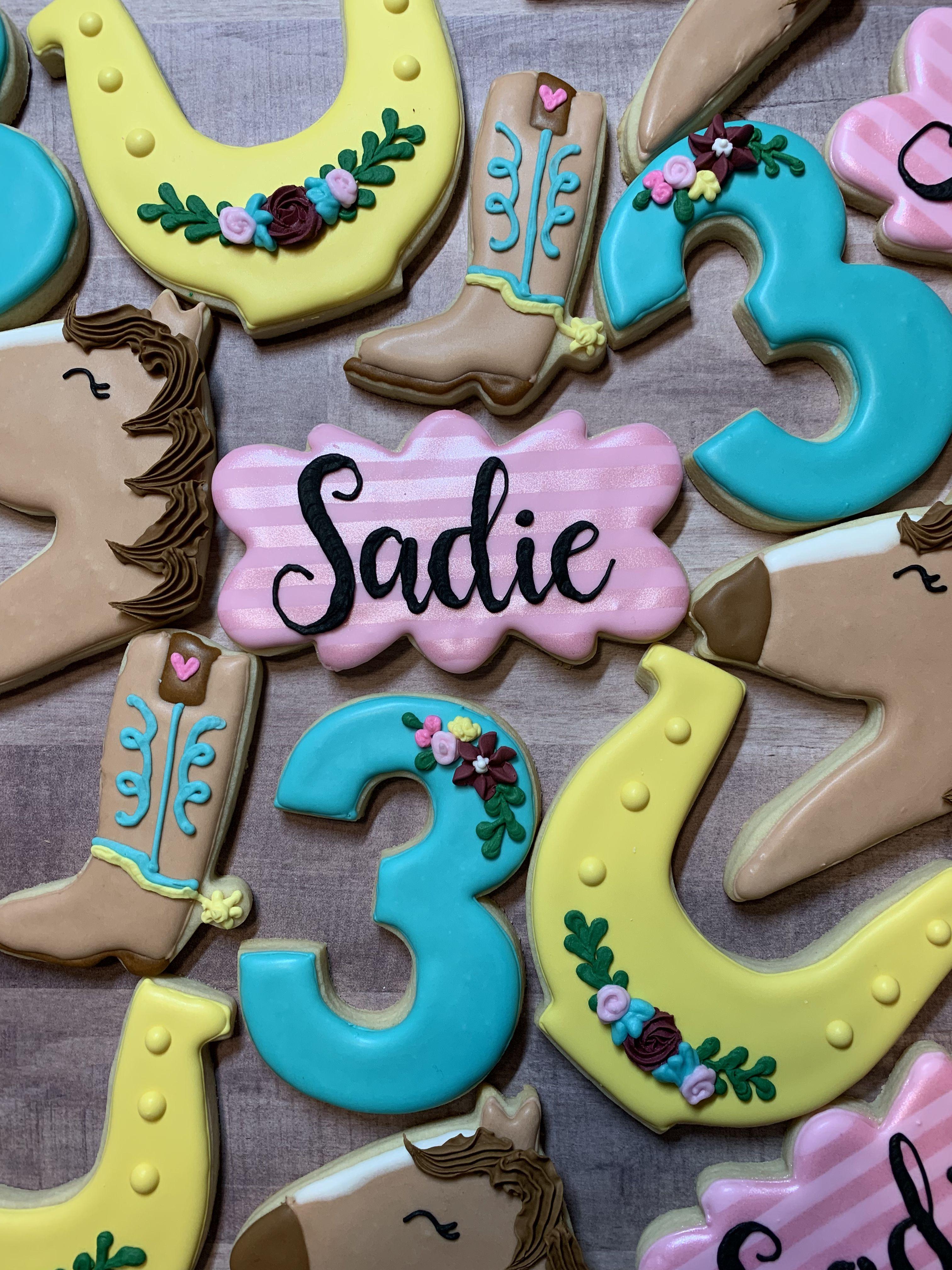Spirit Riding Free Birthday For Sweet Sadie Nancyplaque Horsehead Horseshoe Cowboybo Horse Birthday Parties Horse Theme Birthday Party Free Birthday Stuff